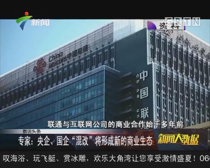 """专家:央企、国企""""混改""""将形成新的商业生态"""