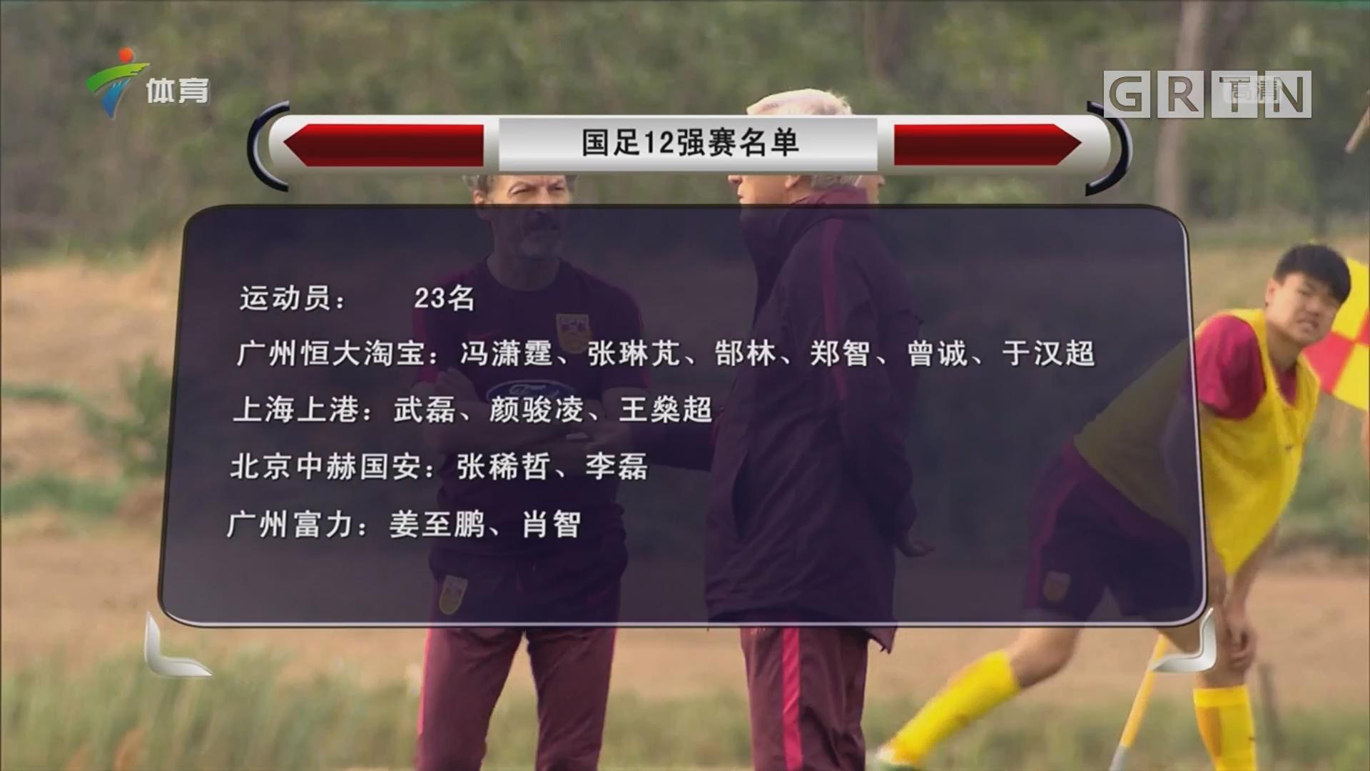 国足12强赛名单公布 郑智领衔恒大6将 张玉宁入选