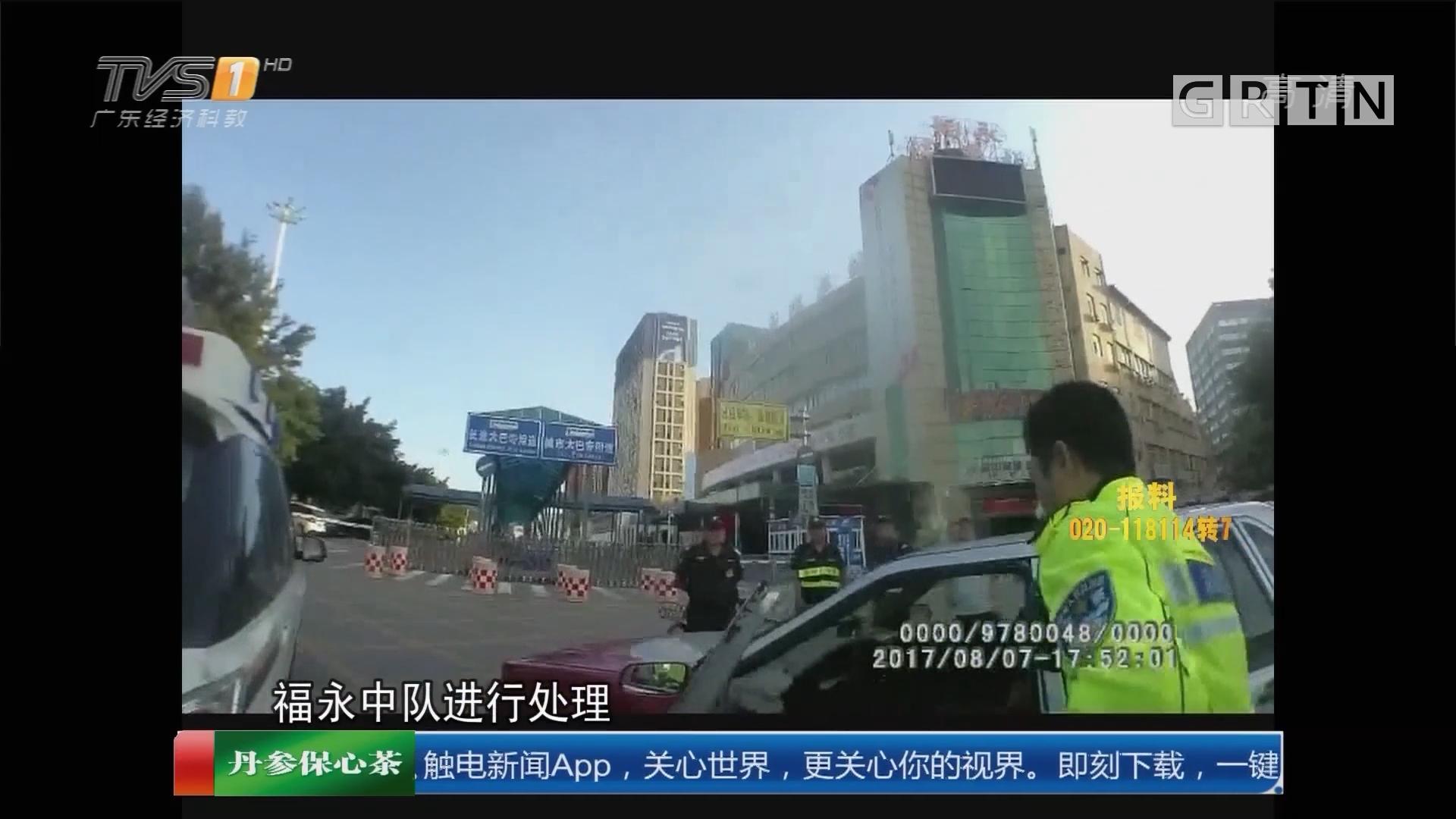 深圳宝安:的哥被查 疯狂逃窜拖行交警被抓获