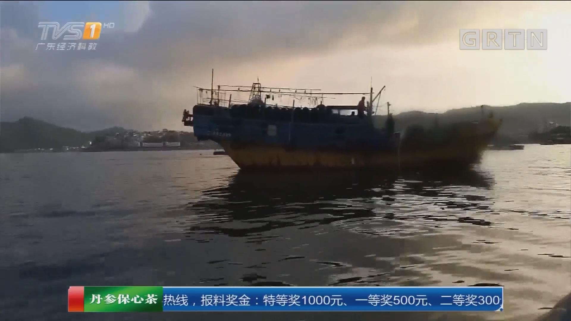 """一线独家调查:不顾""""禁渔令""""非法捕捞 为躲检查 海上分装后用小船拉鱼上岸"""