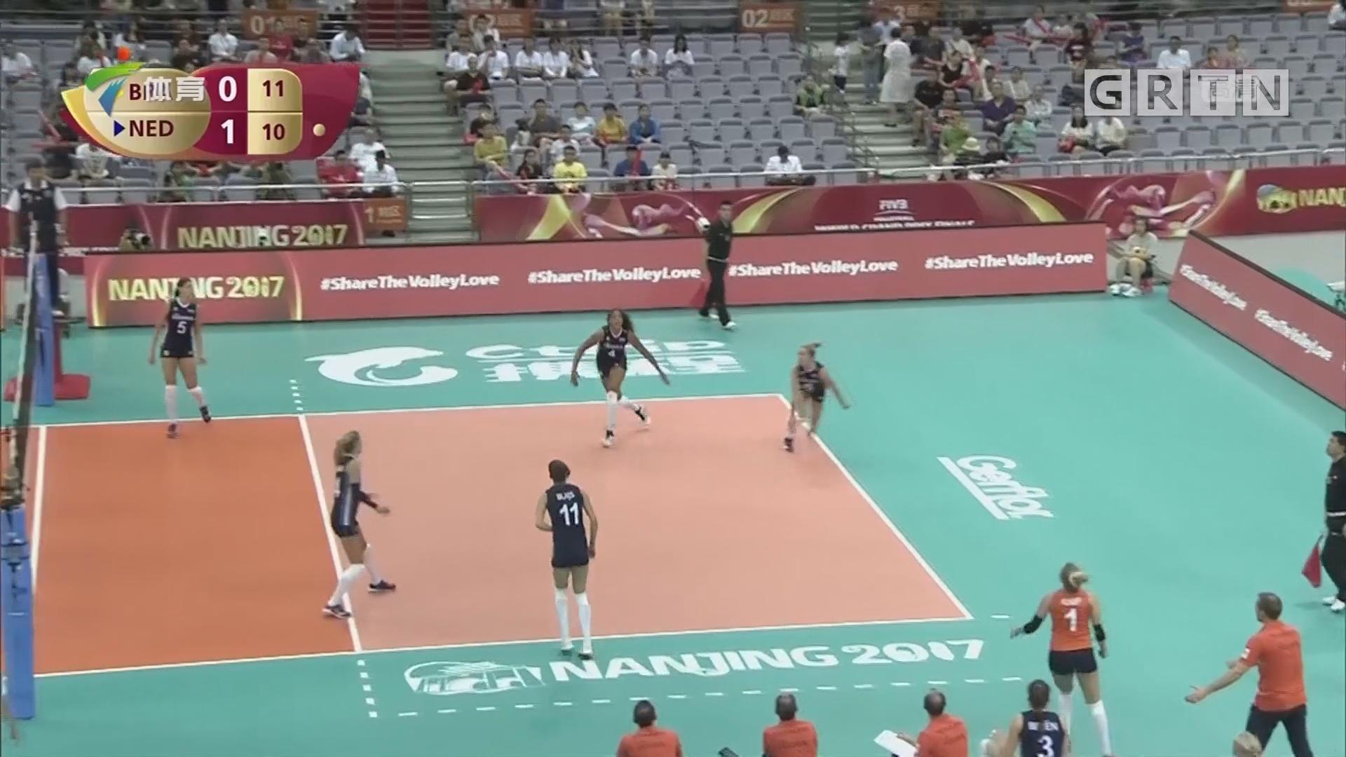 巴西女排逆转胜荷兰 保留出线希望