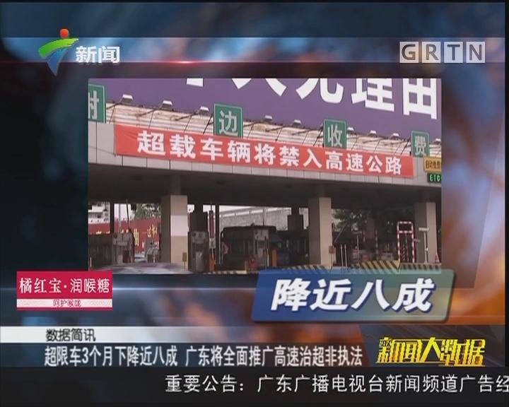 超限车3个月下降近八成 广东将全面推广高速治超非执法