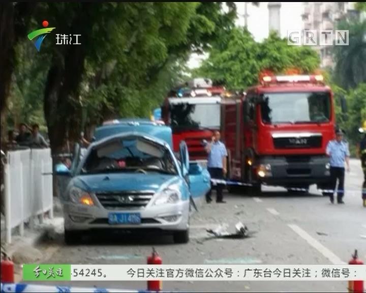 广州:的士气瓶泄漏爆炸 司机受轻伤