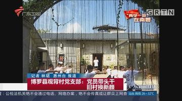 博罗县观背村党支部:党员带头干 旧村换新颜