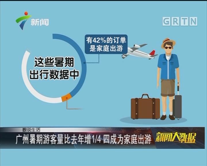 广州暑期游客量比去年增1/4 四成为家庭出游