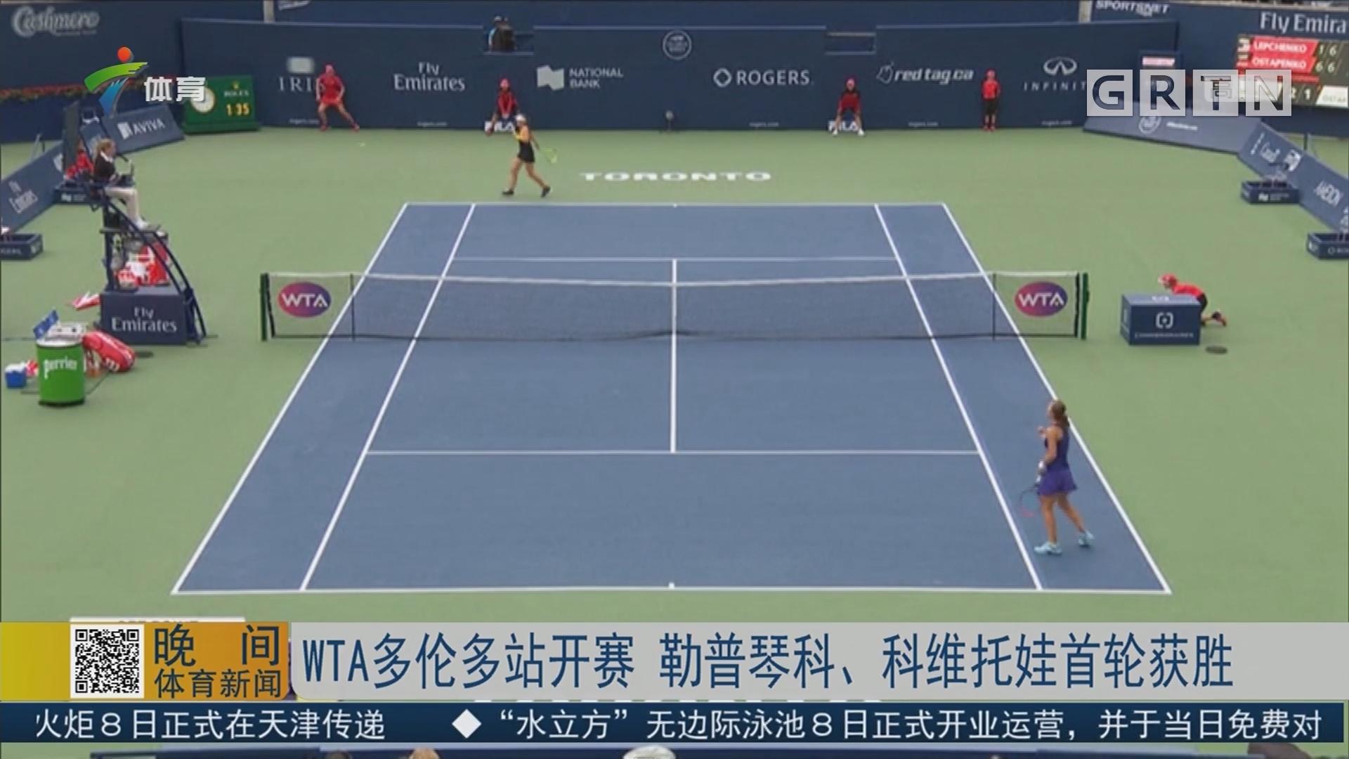 WTA多伦多站开赛 勒普琴科、科维托娃首轮获胜