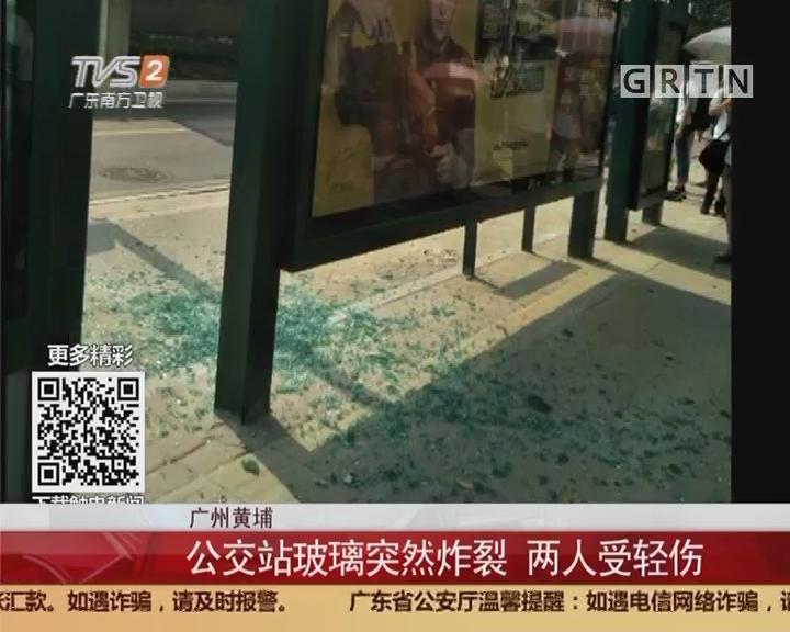 广州黄埔:公交站玻璃突然炸裂 两人受轻伤
