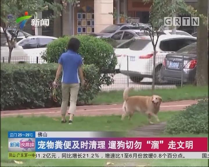 """佛山:宠物粪便及时清理 遛狗切勿""""溜""""走文明"""