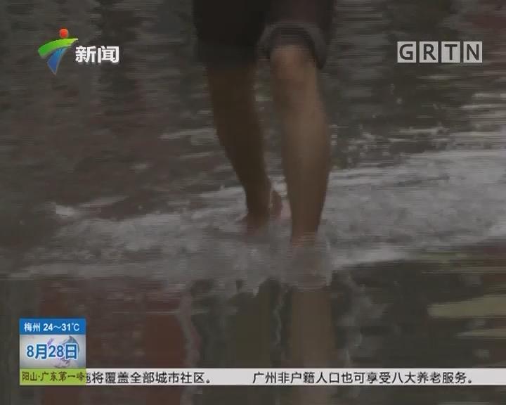广州石井:石井河水倒灌 石岚村遭殃