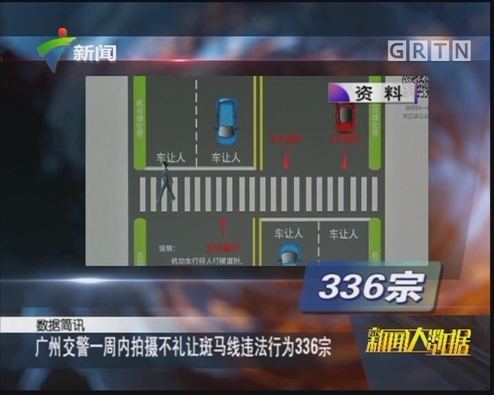 广州交警一周内拍摄不礼让斑马线违法行为336宗