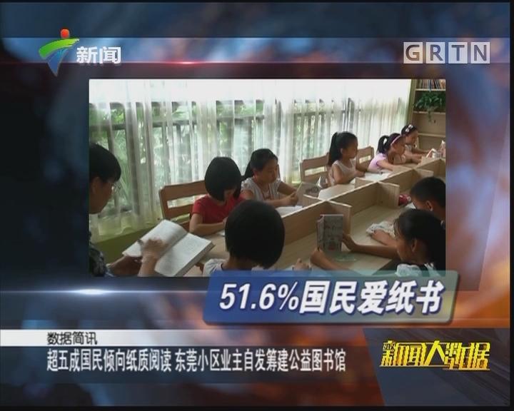 超五成国民倾向纸质阅读 东莞小区业主自发筹建公益图书馆