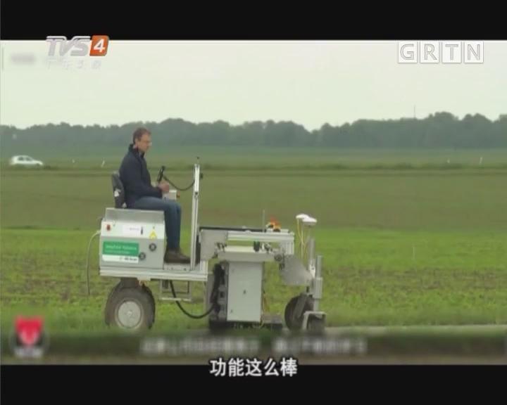 新型除草机器人能完成多种复杂农活