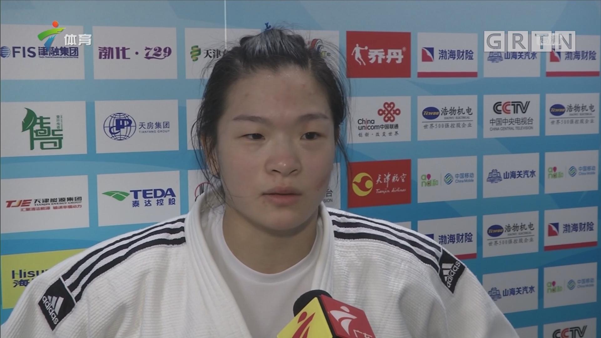 柔道女子63公斤以下级 广东选手郑嘉玲获得第五名