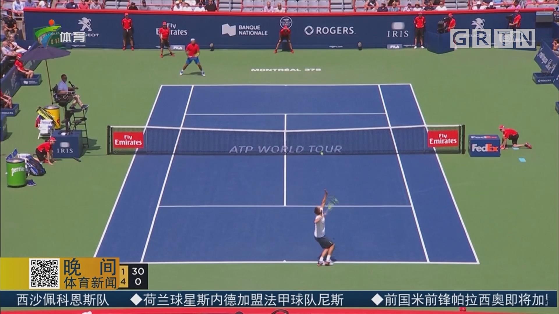 ATP罗杰斯杯 澳大利亚小将轻松晋级