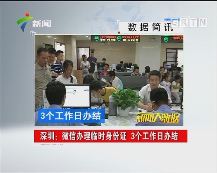深圳:微信办理临时身份证 3个工作日办结