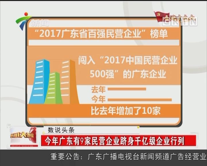 今年广东有9家民营企业跻身千亿级企业行列
