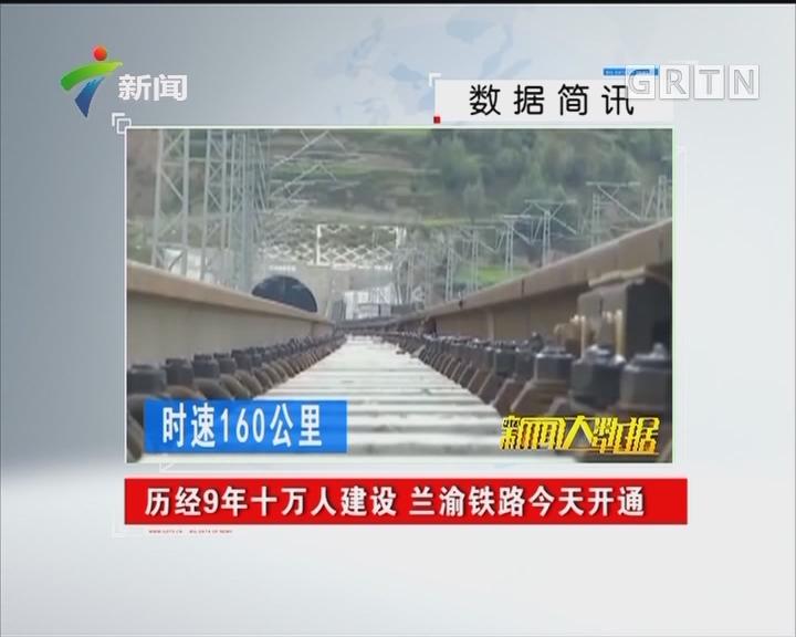 历经9年十万人建设 兰渝铁路今天开通