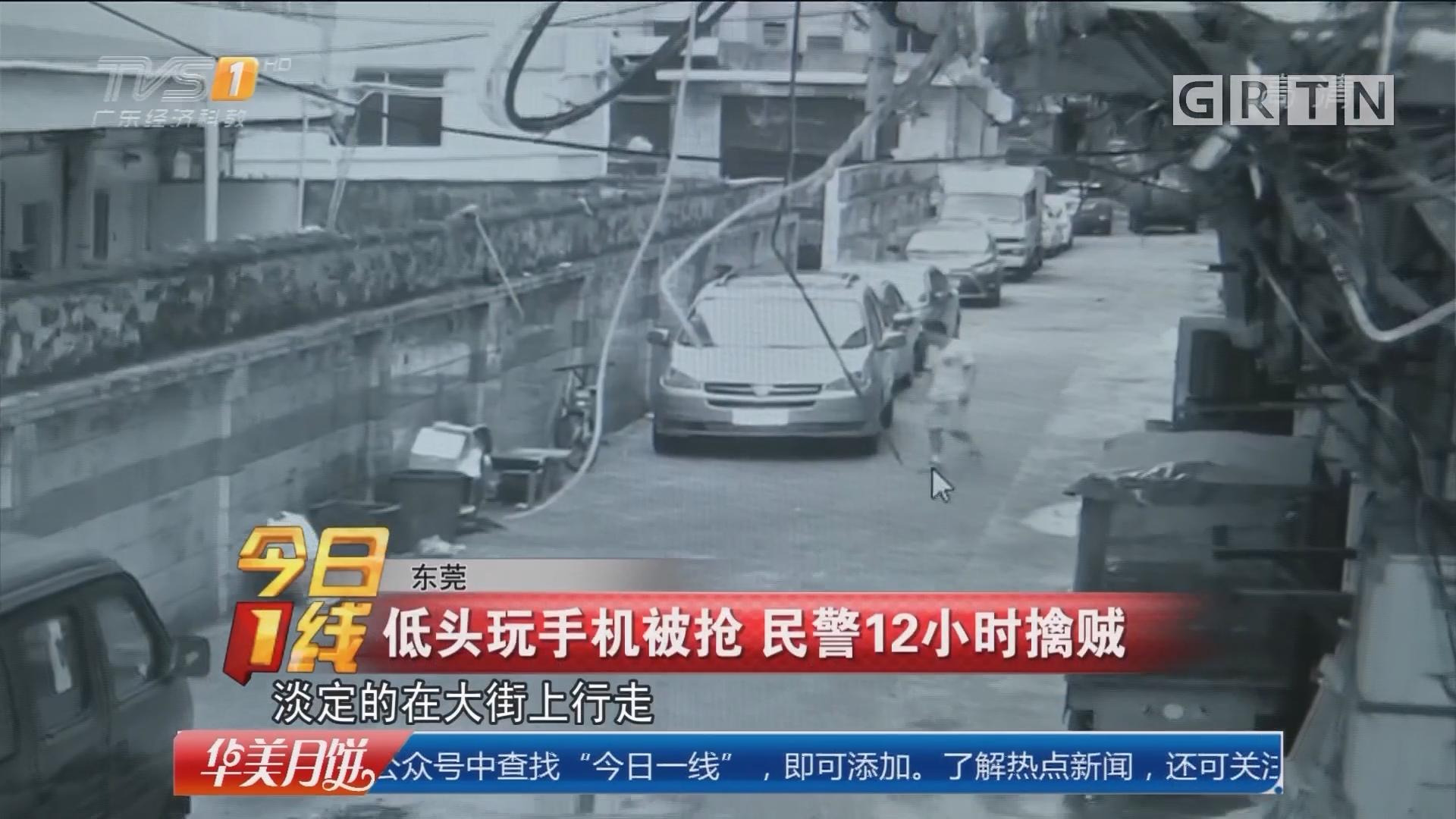东莞:低头玩手机被抢 民警12小时擒贼