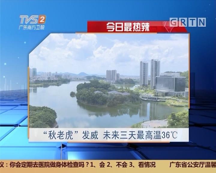 """今日最热辣:""""秋老虎""""发威 未来三天最高温36℃"""