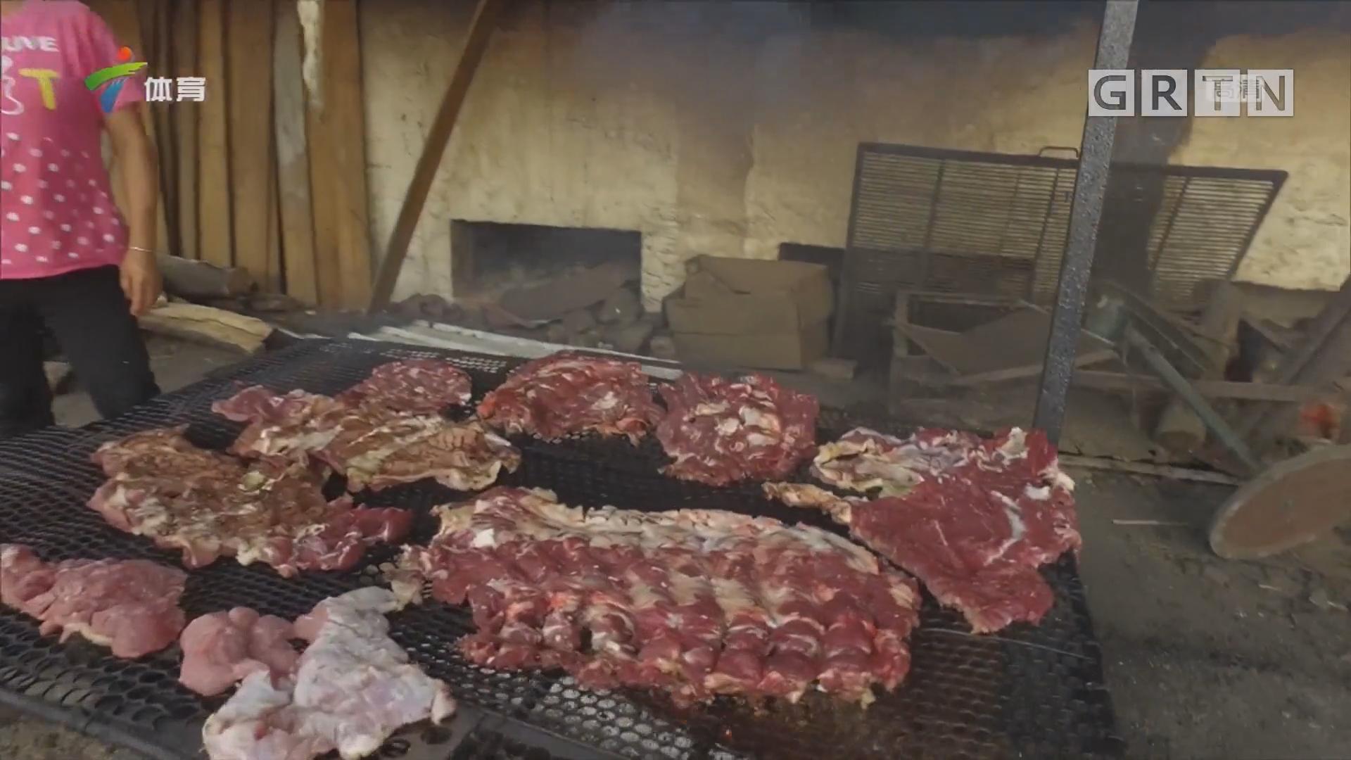 火焙烟香牛肉干 美食之旅在丰阳