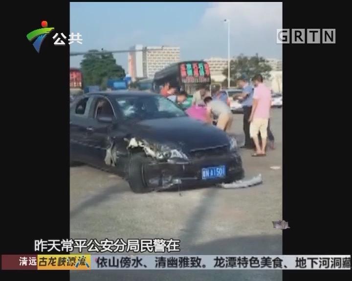 东莞:民警查车 男子慌不择路险象环生