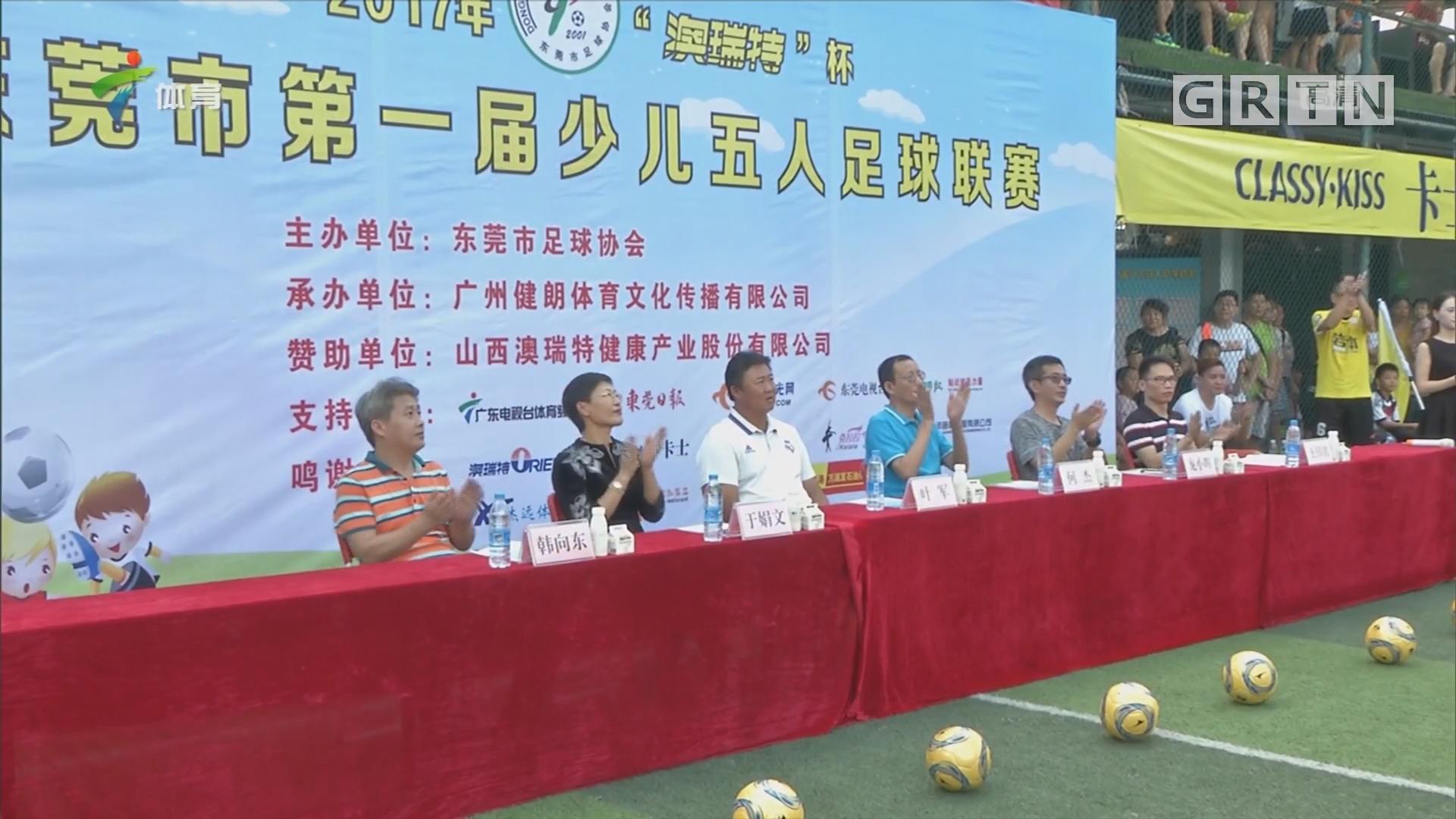 东莞市首届少儿五人足球联赛开幕