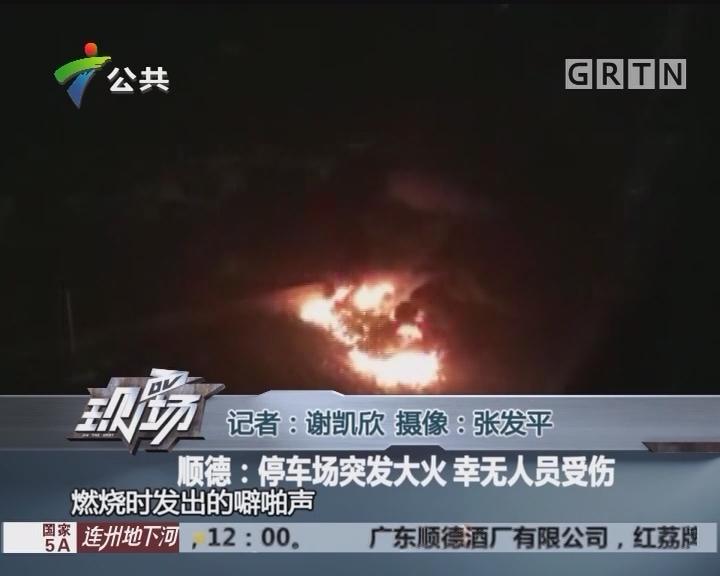 顺德:停车场突发大火 幸无人员受伤