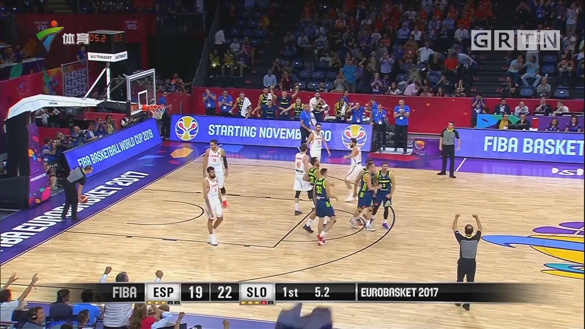 男篮欧锦赛 卫冕冠军西班牙止步半决赛