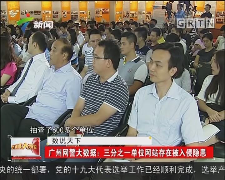 广州网警大数据:三分之一单位网站存在被入侵隐患
