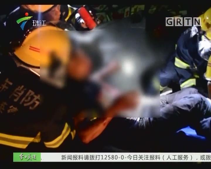 乐广高速英德段:两货车追尾 两人被困
