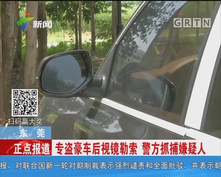 东莞:专盗豪车后视镜勒索 警方抓捕嫌疑人