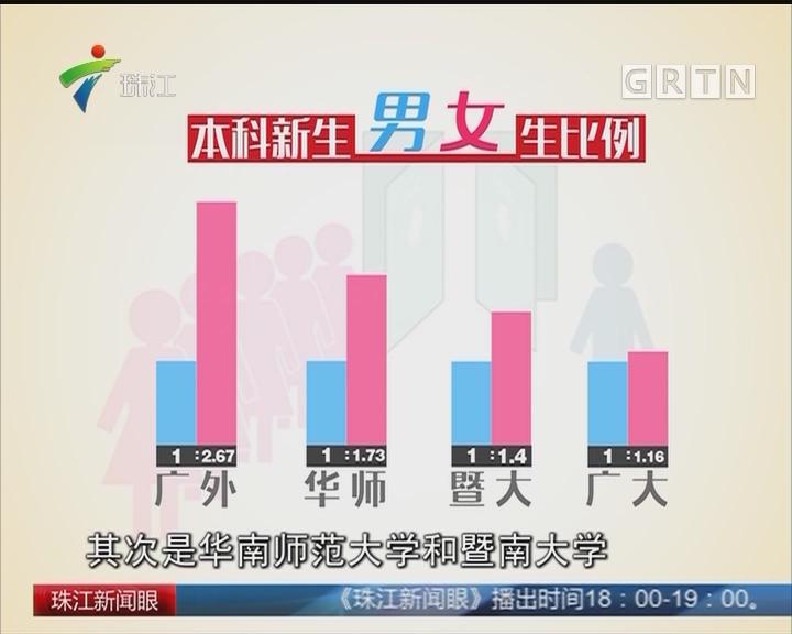 开学季 广东高校男女比例大数据