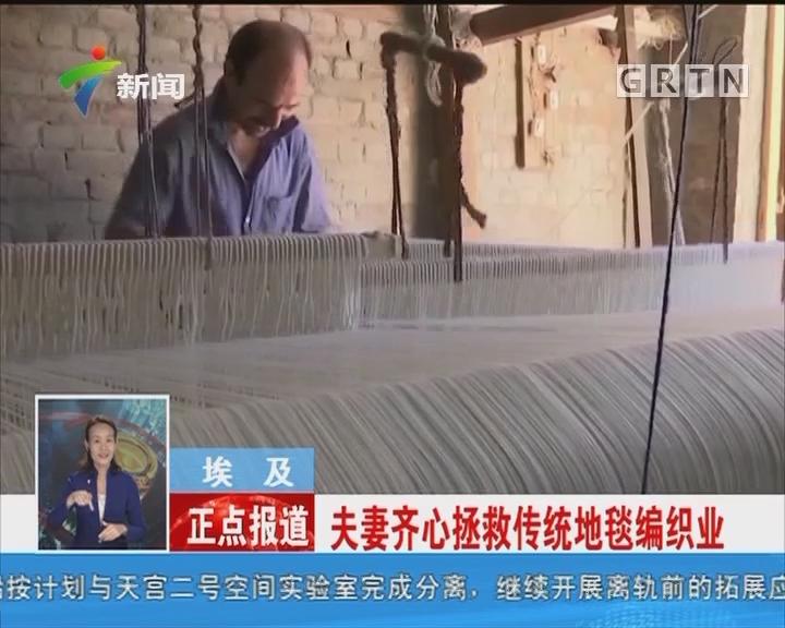 埃及:夫妻齐心拯救传统地毯编织业