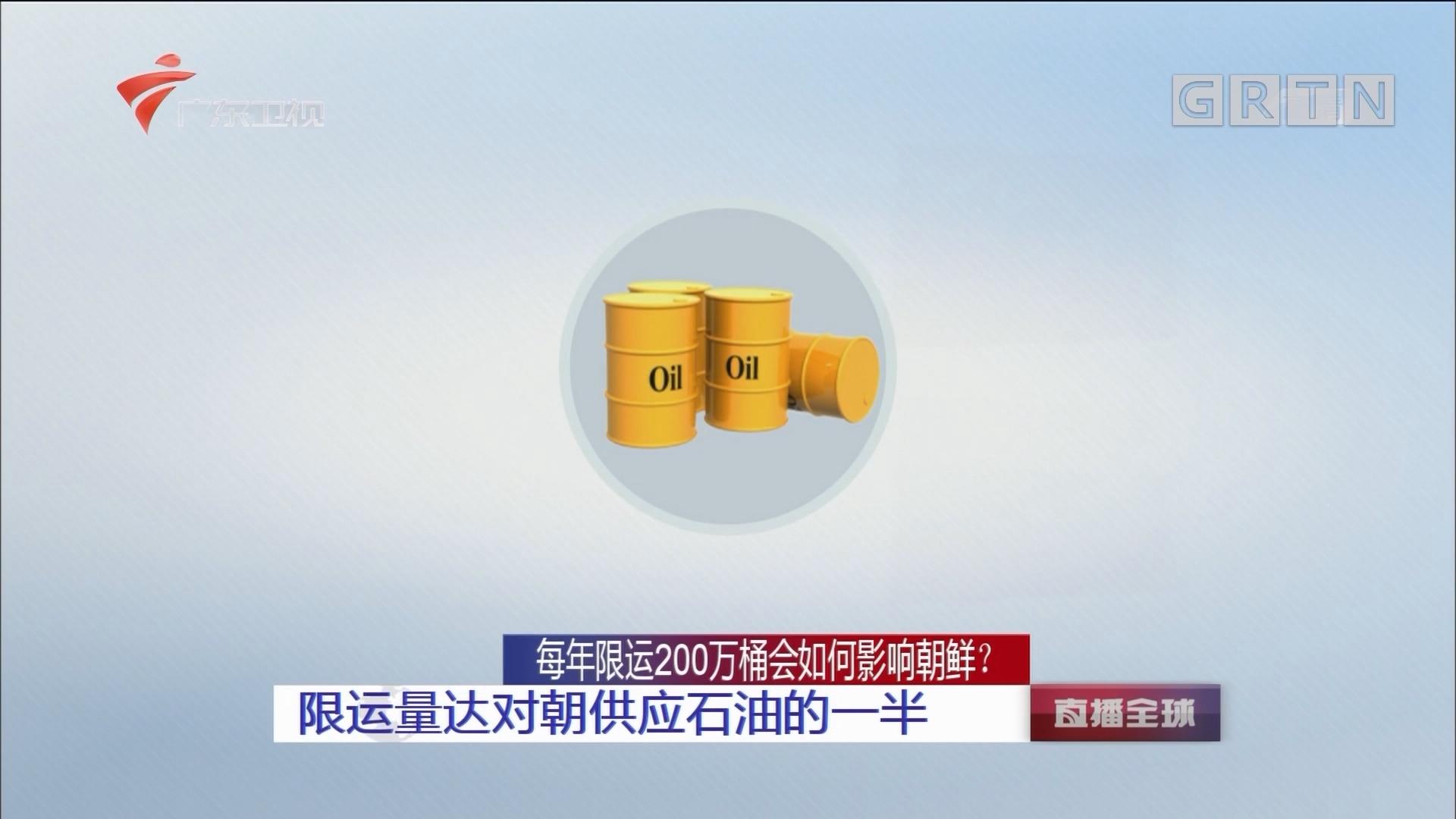 每年限运200万桶会如何影响朝鲜? 限运量达对朝供应石油的一半