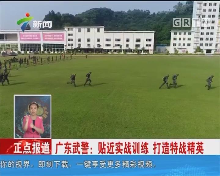 广东武警:贴近实战训练 打造特战精英