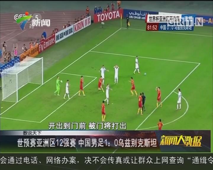 世预赛亚洲区12强赛 中国男足1:0乌兹别克斯坦