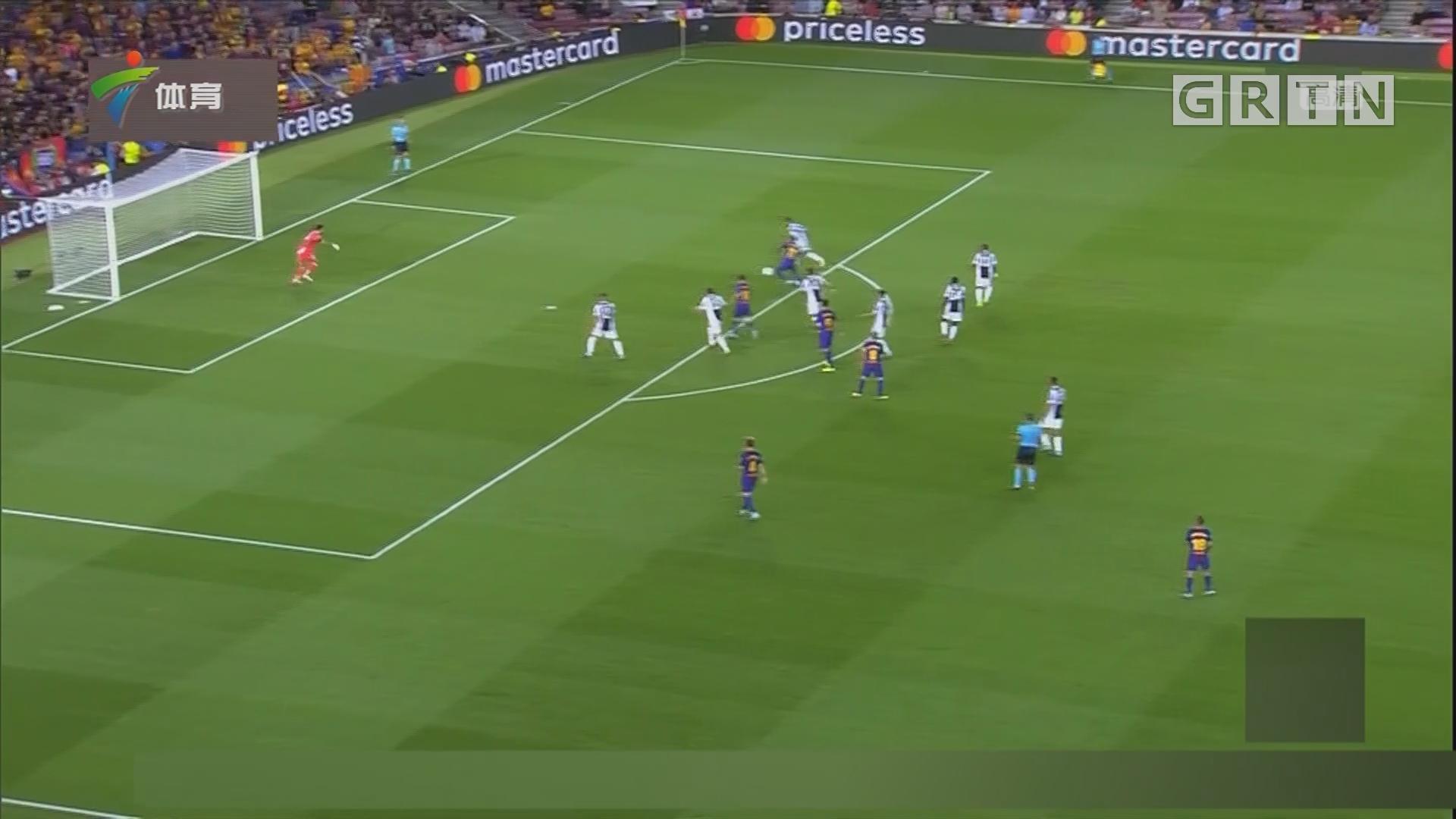 梅西两球 巴萨大胜尤文