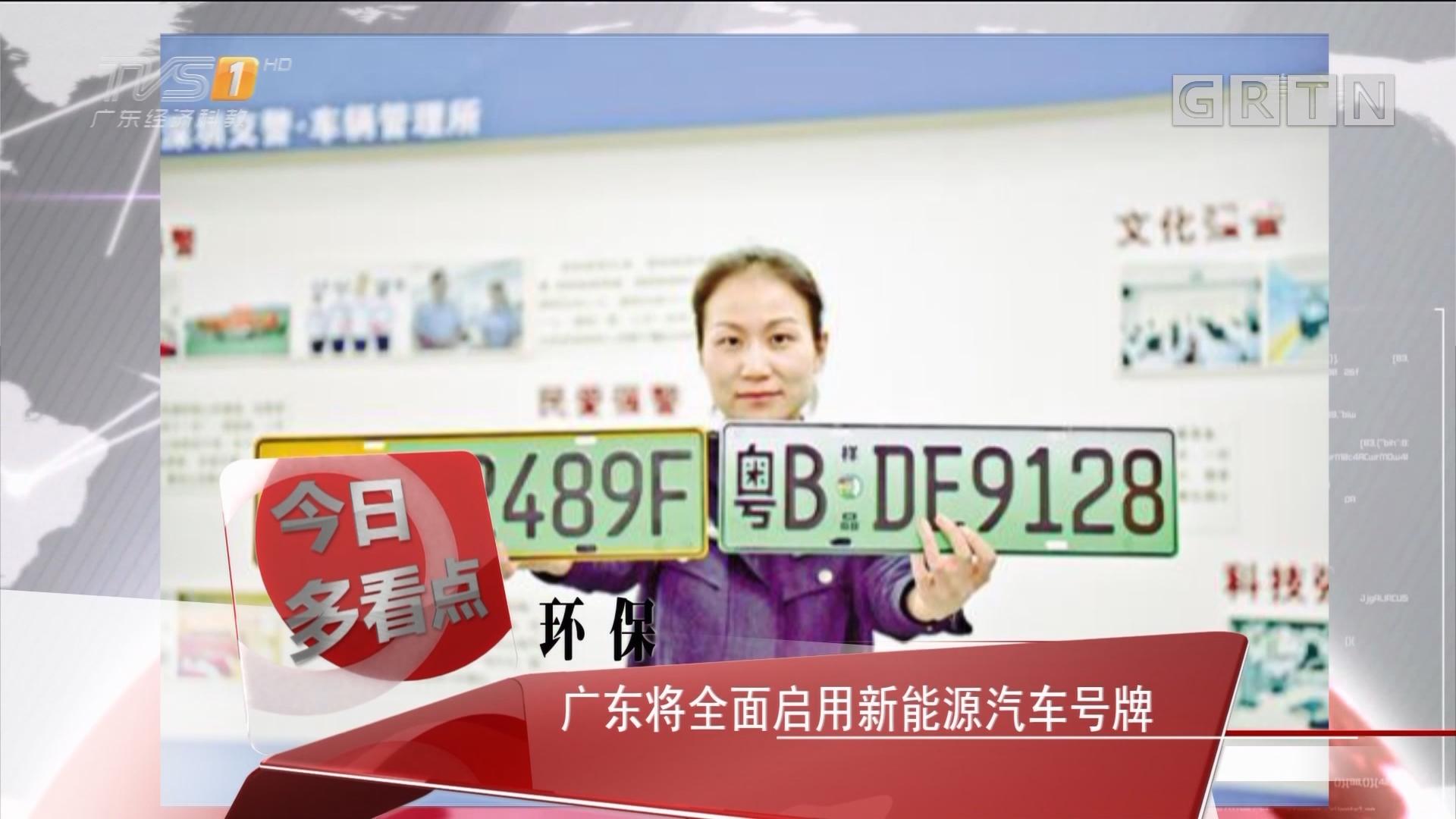 环保:广东将全面启用新能源汽车号牌