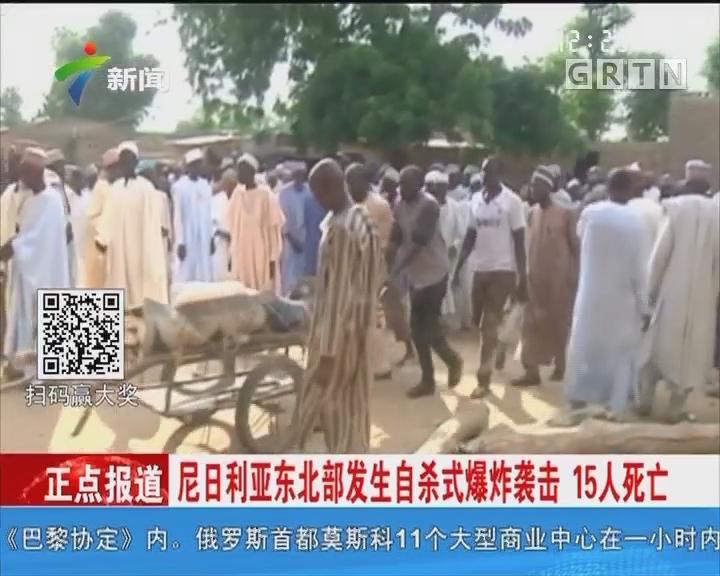 尼日利亚东北部发生自杀式爆炸袭击 15人死亡