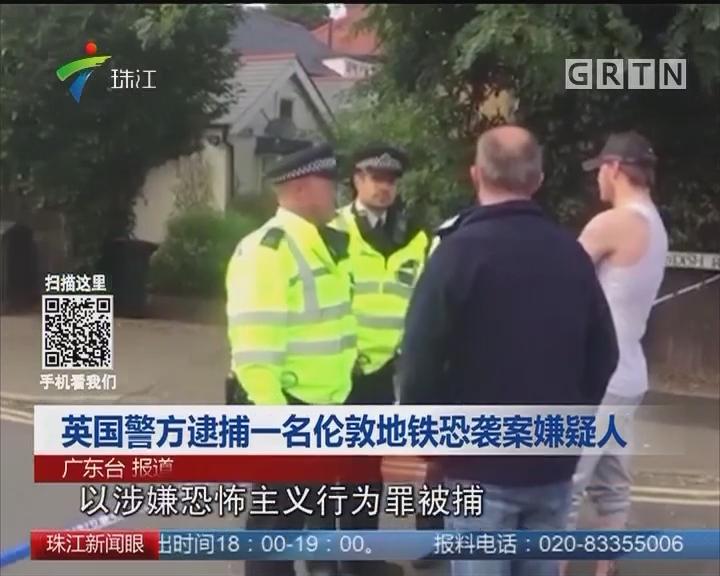 英国警方逮捕一名伦敦地铁恐袭案嫌疑人