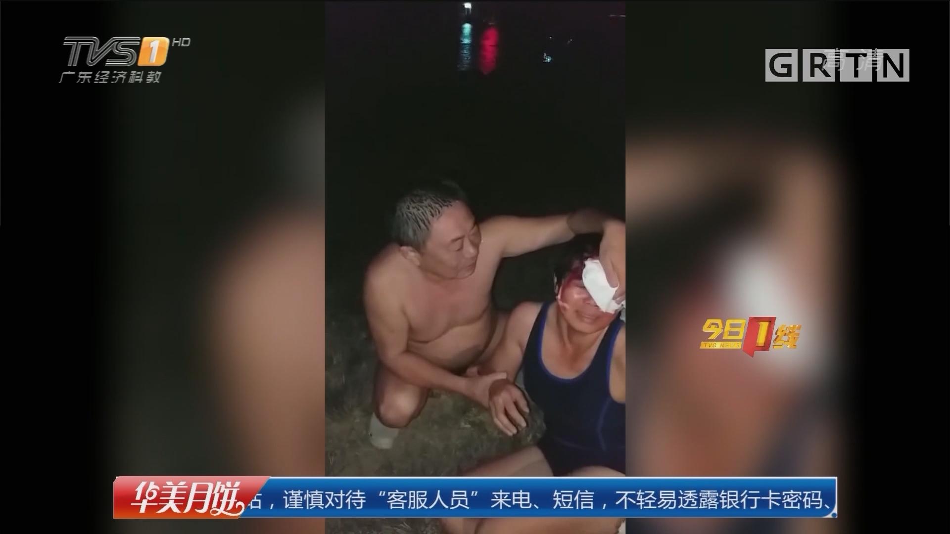 """系列专栏""""温度"""":佛山 女子野泳被船撞伤 阿伯江中救人"""