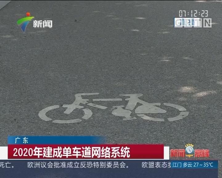 广东:2020年建成单车道网络系统