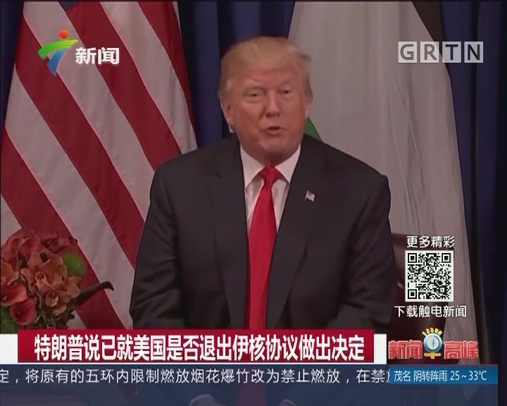 特朗普说已就美国是否退出伊核协议做出决定