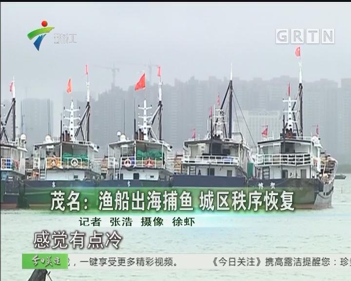 茂名:渔船出海捕鱼 城区秩序恢复