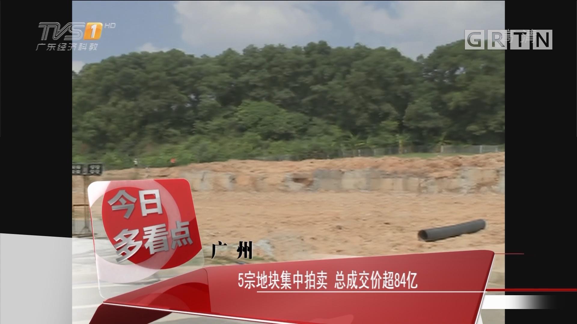 广州:5宗地集中拍卖 总成交价超84亿
