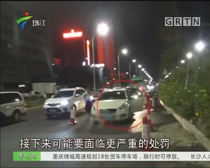 """深圳:""""醉猫""""弃车而逃 交警迅速擒获"""