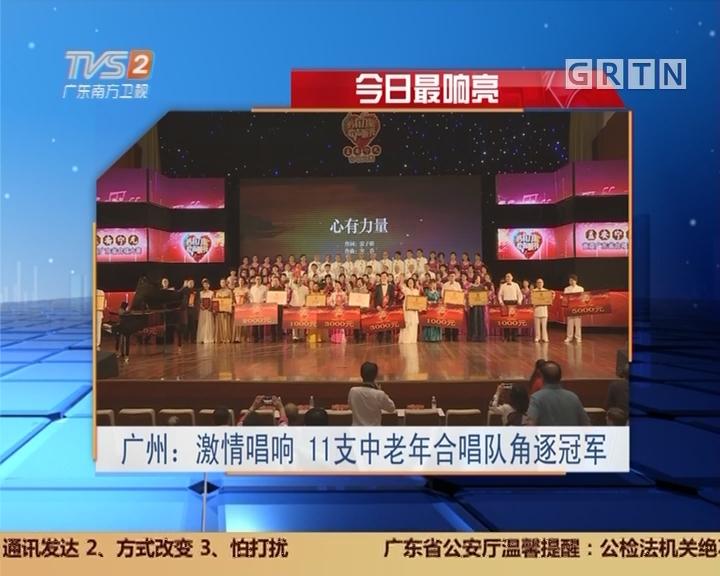 今日最响亮 广州:激情唱响 11支中老年合唱队角逐冠军