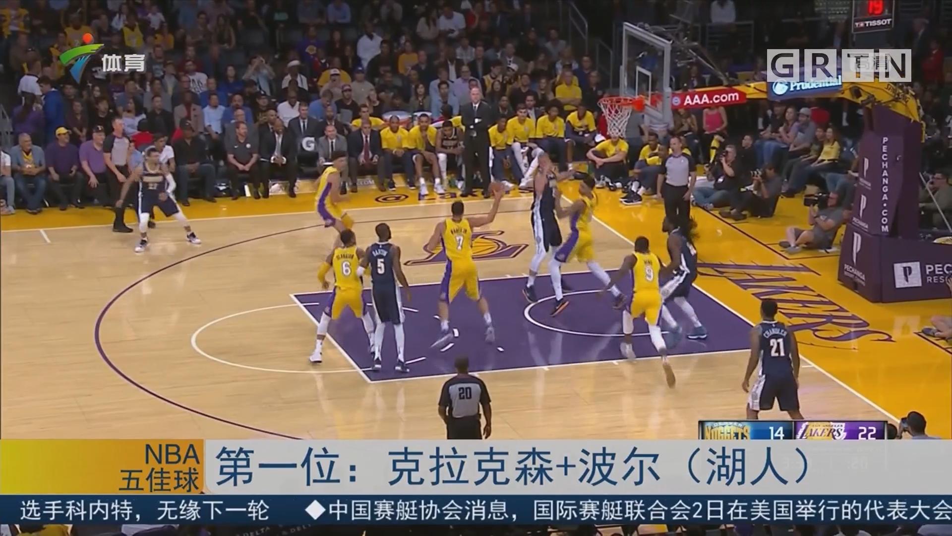 NBA季前赛精彩五佳球