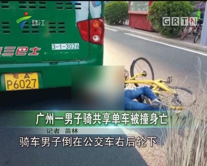 广州一男子骑共享单车被撞身亡