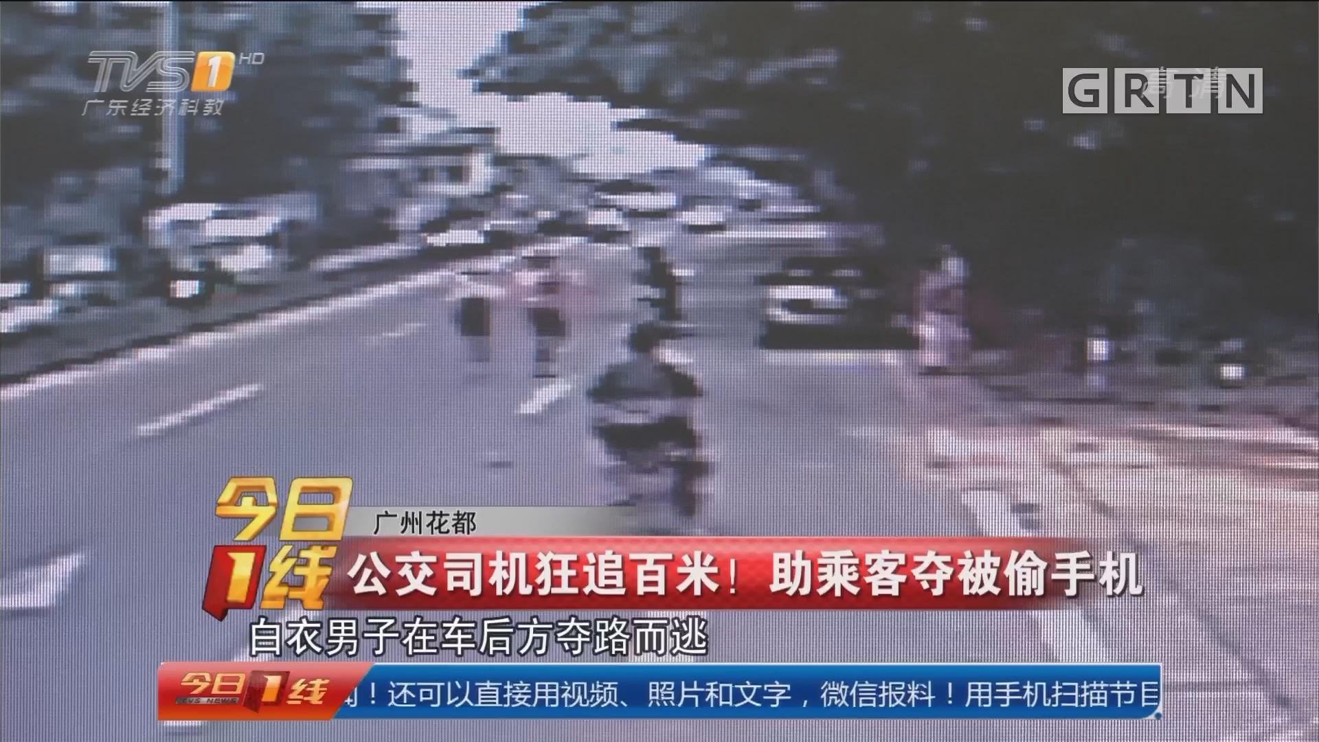 广州花都:公交司机狂追百米! 助乘客夺被偷手机